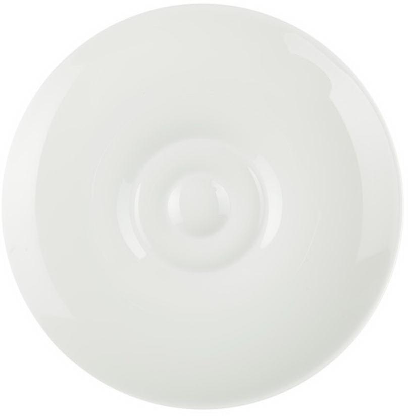 Блюдце для эспрессо Royal Porcelain Гонг, цвет: белый, диаметр 12 смРП-8726Блюдце для эспрессо Royal Porcelain Гонг- новый уникальный продукт на рынке фарфора, производится из материала, в состав которого входит алюминиум(глинозем) в виде порошка, что придает фарфору уникальные свойства: белоснежный цвет, как на поверхности, так и на изломе, более тонкие иизящные формы, так как добавление металла делает фарфоровую массу более пластичной, устойчивость к сколам и царапинам.Возможный перепад температур при эксплуатации до 200 градусов!Фарфор покрывается глазурью, что характеризует эту посуду как продукт высшего класса.Идеально подходит для использования в микроволновой печи и посудомоечной машине.