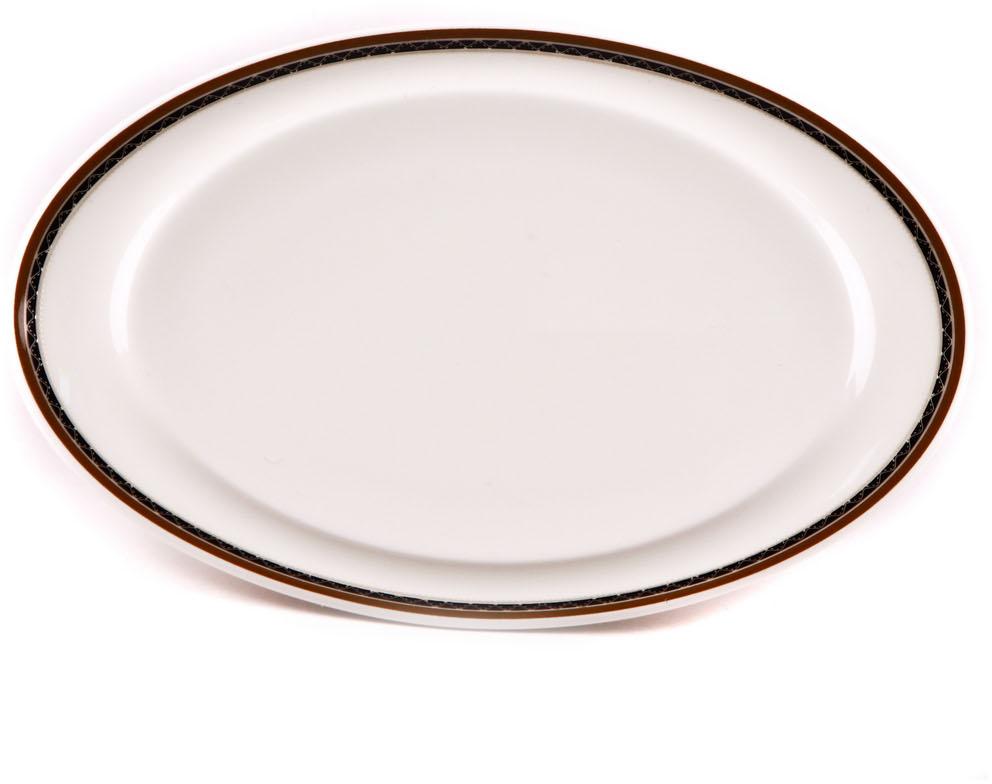 Блюдо Royal Porcelain Кассие, овальное, 15,5 х 28 смРП-CS8713ROYAL новый уникальный продукт на рынке фарфора производится из материала, в состав которого входит алюминиум (глинозем) в виде порошка, что придаёт фарфору уникальные свойства: белоснежный цвет, как на поверхности, так и на изломе, более тонкие и изящные формы, так как добавление металла делает фарфоровую массу более пластичной, устойчивость к сколам и царапинам. Возможный перепад температур при эксплуатации до 200 градусов! Фарфор покрывается глазурью, что характеризует эту посуду как продукт высшего класса. Идеально подходит для использования в микроволновой печи и посудомоечной машине