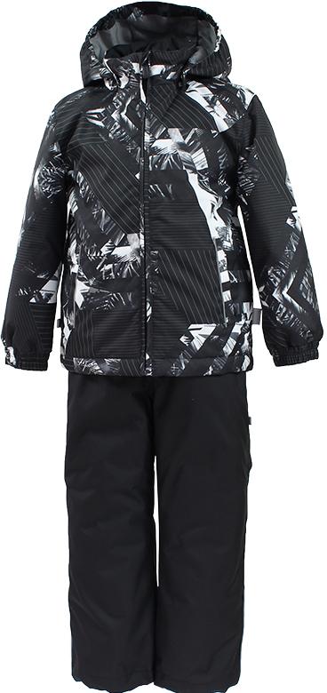 Комплект верхней одежды детский Huppa Yoko 1, цвет: черный. 41190104-82309. Размер 12841190104-82309Комплект для девочек YOKO 1. Водо и воздухонепроницаемость ( 10 000 так же в модельном ряду есть комбинированные изделия 5 000 вверх / 10 000 низ). Состав: Ткань 100% полиэстер, Подкладка тафта 100% полиэстер. Утеплитель: Куртка 40 гр, брюки 40 гр. Отличительные особенности: Швы проклеены, Отстегивающийся капюшон, Капюшон на резинке, Манжеты рукавов на резинке, Регулируемые низы, Эластичный шнур+фиксатор, Съемные резиновые подтяжки, Добавлены петли для подтяжек. Присутствуют светоотражательные детали.