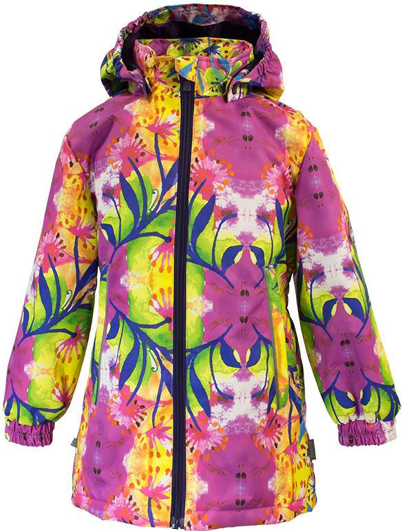 Куртка для девочки Huppa June 1, цвет: фуксия. 17880104-81263. Размер 11017880104-81263Демисезонная куртка для девочек June 1. Мембранная ткань отличается высокими водо- и ветронепроницаемыми качествами. Куртка с утеплителем 40 г подходит для ношения при температуре воздуха от +5 до +15°С. Мягкая подкладка из флиса сохраняет тепло тела. Воротник-стойка, застежка на молнию. Капюшон отстегивается. По бокам он укреплен резинкой для лучшей защиты головы и ушей от ветра и дождя. Манжеты с двойной резинкой. Карманы в области талии застегиваются на молнию. На спинке вшит эластичный пояс. Светоотражающие канты и детали служат для безопасности ребенка.