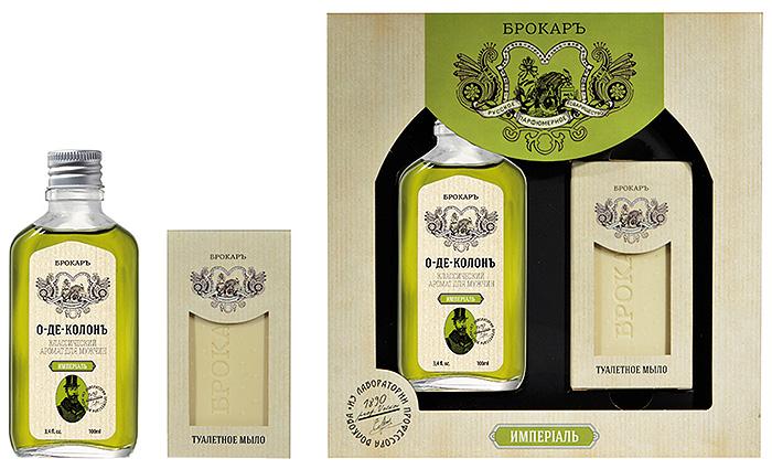 Brocard Подарочный набор для мужчин Империал: одеколон, 100 мл + мыло, 100 г