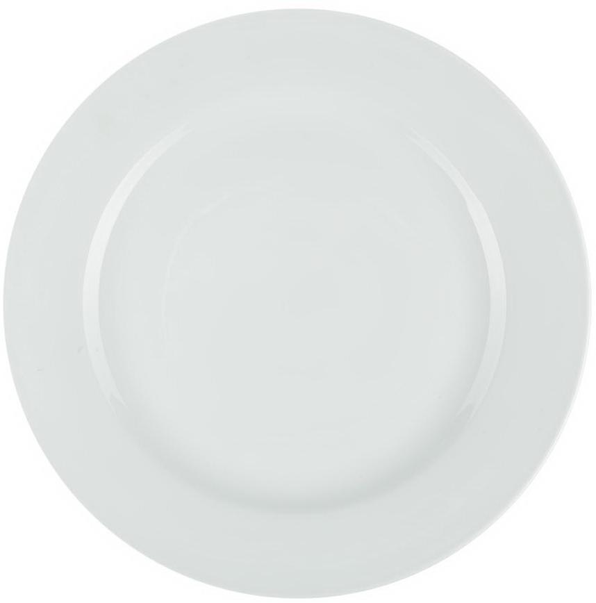 Тарелка Nuova Cer, диаметр 31 смРП-02/0305ROYAL - новый уникальный продукт на рынке фарфора, производится изматериала, в состав которого входит алюминиум (глинозем) в виде порошка, чтопридаёт фарфору уникальные свойства: белоснежный цвет, как на поверхности,так и на изломе, более тонкие и изящные формы, так как добавление металладелает фарфоровую массу более пластичной, устойчивость к сколам и царапинам.Возможный перепад температур при эксплуатации до 200 градусов! Фарфорпокрывается глазурью, что характеризует эту посуду как продукт высшего класса.Идеально подходит для использования в микроволновой печи ипосудомоечной машине.