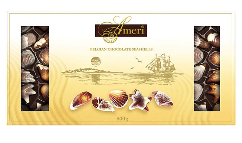 Ameri Шоколадные конфеты с начинкой пралине Цветы, 500 г шоколадные конфеты ameri с начинкой пралине 125г