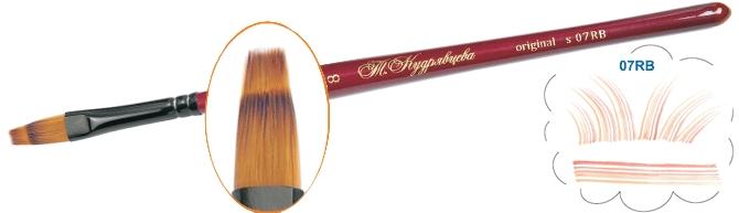 Roubloff Кисть 07RB синтетика плоская № 10Ж07-10,0RBКисть Гребешок из синтетики на короткой красной фигурной ручке имеет два уровня выставки волоса, что позволяет получить мазок, состоящий из отдельных линий.