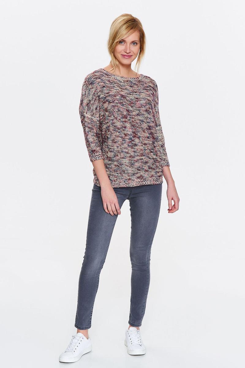 Свитер женский Drywash, цвет: бордовый, бежевый. DSW0031SZ. Размер M (46) свитер drywash drywash dr592ewxdb47