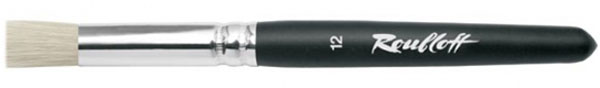 Roubloff Кисть 1685 щетина № 12 короткая ручкаЖЩ8-12,05БКисть трафаретная, очень жесткая, из волоса щетины на короткой черной матовой ручке с алюминиевой обоймой.
