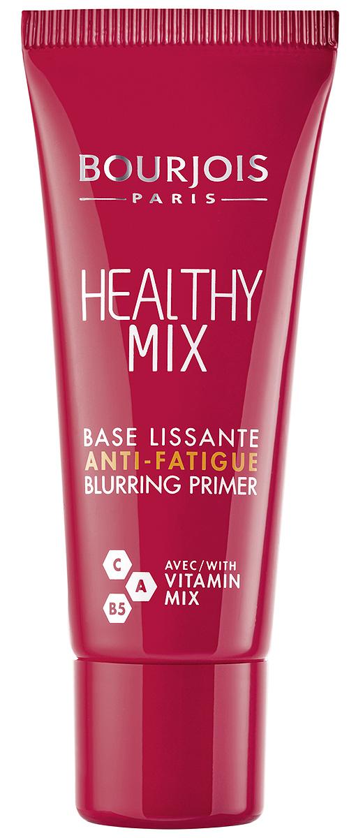 Bourjois Праймер Healthy Mix, 20 мл29166668001Healthy Mix от Bourjois с активной формулой - первый шаг навстречу здоровому цвету лица! Идеальный способ подготовить кожу к нанесению макияжа и обеспечить ее сияние на протяжение всего дня. Комбинация витаминов C, A и B5 в формуле Healthy Mix маскирует покраснения и темные круги, визуально сглаживая мимические морщины и сужая поры. Свежая нелипкая текстура способствует интенсивному увлажнению и будто тает на коже, создавая приятное ощущение на коже наряду с легким ароматом фруктов.