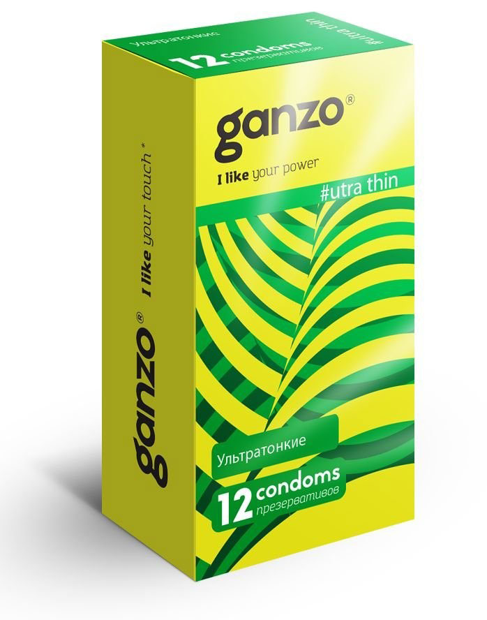Ganzo Презервативы Ultra thin, 12 шт i lifestyles ultra thin