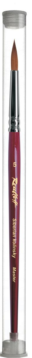 Roubloff Кисть 301T колонок круглая № 0ЖК1-00,8ТНКисть круглая, мягкая из волоса колонкав индивидуальной тубе на короткой глянцевой бордовой ручке с хромированной обоймой серебряного цвета.