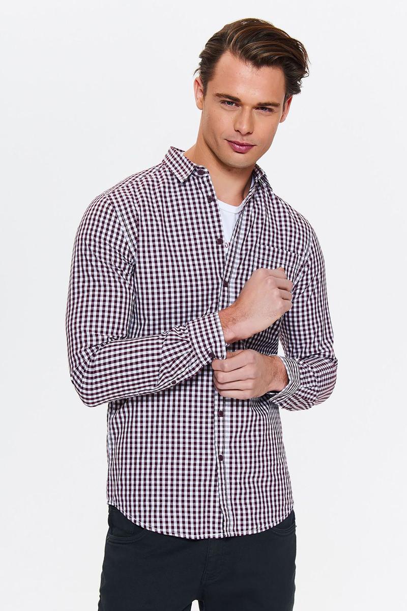 Рубашка мужская Top Secret, цвет: красный. SKL2511CE. Размер 44/45 (52) рубашка мужская top secret цвет темно синий skl2533gr размер 44 45 52