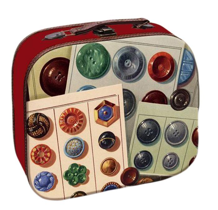 Шкатулка декоративная Magic Home Пуговицы, 28,5 х 25 х 10,5 см39843;39843Декоративная шкатулка Пуговицы из МДФ. Изделие закрывается на металлический замок-защелку и оснащено удобной ручкой для переноски. Такая шкатулка может использоваться для хранения бижутерии, предметов рукоделия, в качестве украшения интерьера, а также послужит хорошим подарком для человека, ценящего практичные и оригинальные вещицы.