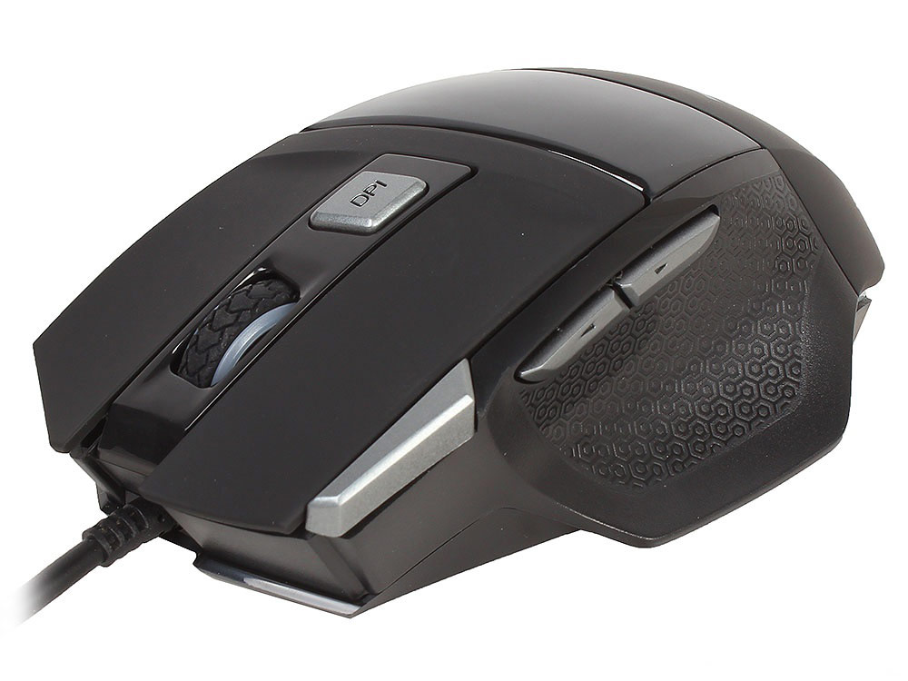Qcyber Cane игровая мышь010259QCYBER CANE, игровая лазерная мышь 3500 DPI, 7 программируемых кнопок, USB2.0, подсветка