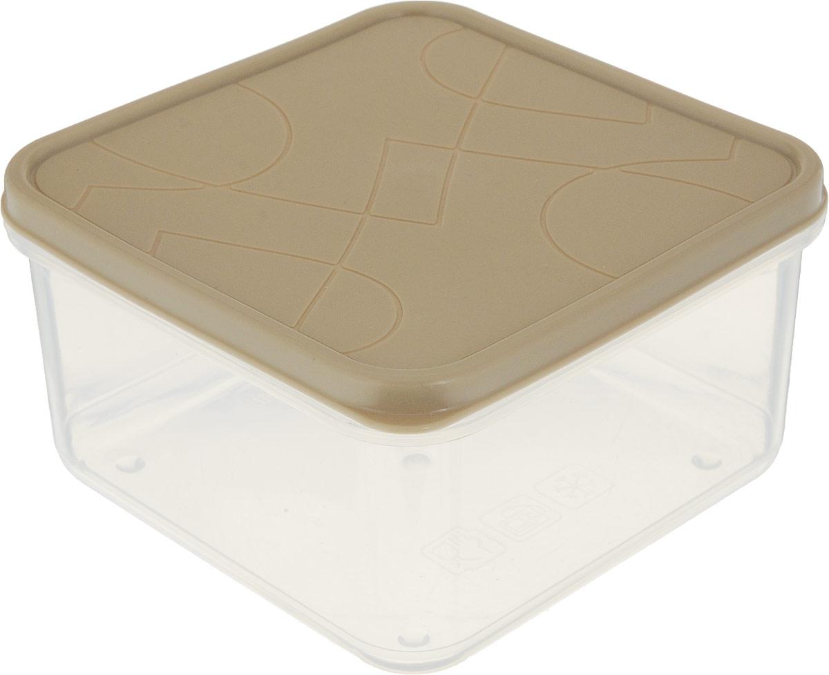 Контейнер для продуктов Giaretti Vitamino, квадратный, цвет: прозрачный, бежевый, 700 млGR1854_бежевыйПоложить в холодильник остатки еды, взять с собой обед в дорогу, заморозить овощи на зиму – все это можно сделать с контейнером Vitamino. Контейнер можно использовать для заморозки и хранения продуктов. Подходят для микроволновой печи. А благодаря плотной полиэтиленовой крышке еда дольше сохраняет свою свежесть.