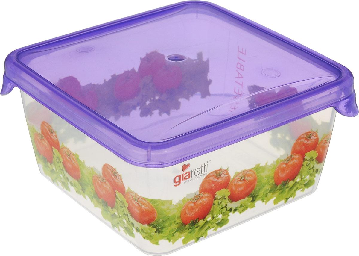 Емкость для продуктов Giaretti Браво, цвет: фиолетовый, прозрачный, 450 мл. GR1064GR1064_фиолетовыйЕмкость для продуктов Giaretti Браво изготовлена из пищевого полипропилена. Крышкаплотно закрывается, дольше сохраняя продукты свежими. Боковые стенки прозрачные, чтопозволяет видеть содержимое.Емкость идеально подходит для хранения пищи, фруктов,ягод, овощей.Такая емкость пригодится в любом хозяйстве.