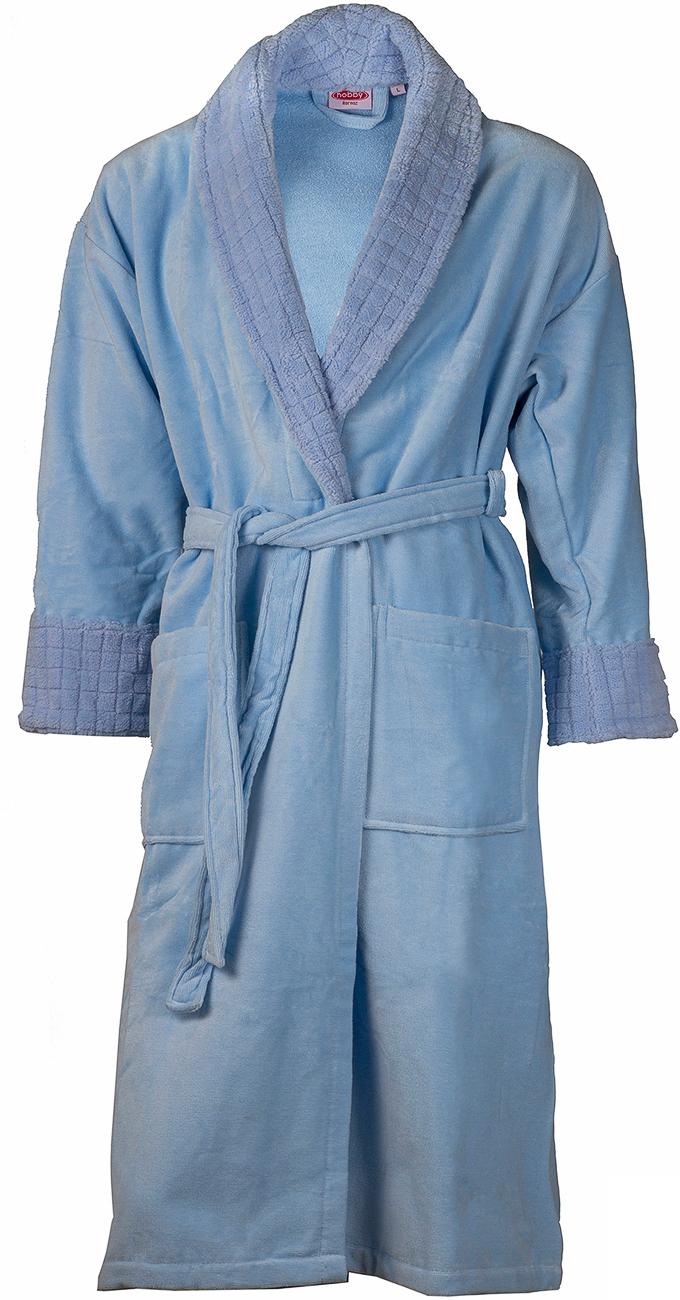Халат мужской Hobby Home Collection Angora, цвет: голубой. 15010008. Размер XXL (54/56) купить шелковый халат мужской спб