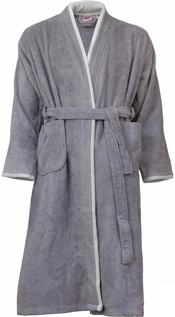 Халат мужской Hobby Home Collection Sude, цвет: серый. 15010014. Размер L (48/50)  - купить со скидкой