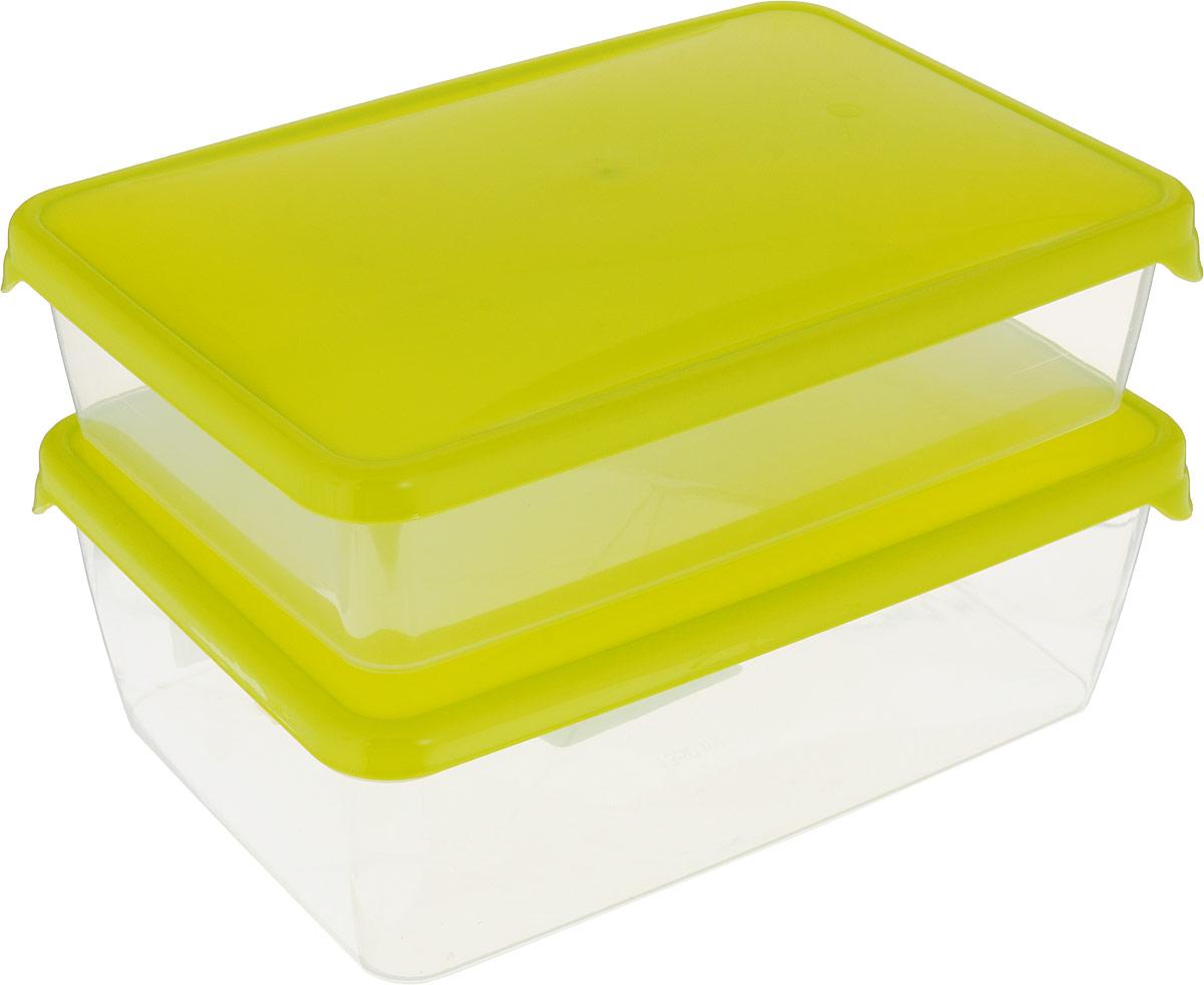 Комплект емкостей для продуктов Giaretti Браво, цвет: прозрачный, салатовый, 2 шт. GR1038МИКСGR1038_салатовыйКомплект емкостей для продуктов Giaretti Браво состоит из 2 контейнеров. Емкости изготовлены из пищевого полипропилена и оснащены крышками, которые плотно закрываются, дольше сохраняя продукты свежими. Боковые стенки прозрачные, что позволяет видеть содержимое.Емкости идеально подходят для хранения пищи, фруктов, ягод, овощей.Такой комплект пригодится в любом хозяйстве. Легкие емкости одинаково удобно взять с собой или хранить продукты дома, замораживать ягоды и овощи небольшими порциями. Тонкий, но вместе с тем прочный пластик обеспечивает надежность изделий.Объем: 900 мл, 1,35 л.