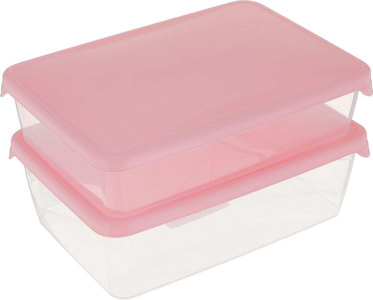 Комплект емкостей для продуктов Giaretti Браво, цвет: прозрачный, розовый, 2 шт. GR1038МИКСGR1038_розовыйКомплект емкостей для продуктов Giaretti Браво состоит из 2 контейнеров. Емкости изготовлены из пищевого полипропилена и оснащены крышками, которые плотно закрываются, дольше сохраняя продукты свежими. Боковые стенки прозрачные, что позволяет видеть содержимое.Емкости идеально подходят для хранения пищи, фруктов, ягод, овощей.Такой комплект пригодится в любом хозяйстве. Легкие емкости одинаково удобно взять с собой или хранить продукты дома, замораживать ягоды и овощи небольшими порциями. Тонкий, но вместе с тем прочный пластик обеспечивает надежность изделий.Объем: 900 мл, 1,35 л.