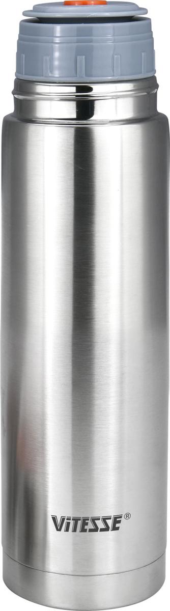 Термос Vitesse, цвет: серебристый, 500 мл. VS-2635VS-2635Термос из высококачественной н/ст, материал колбы из высококачественной н/ст - легкий и удобныйв комплекте две удобные крышки-чашки, пробка клапанного типа (открытие одним нажатием)