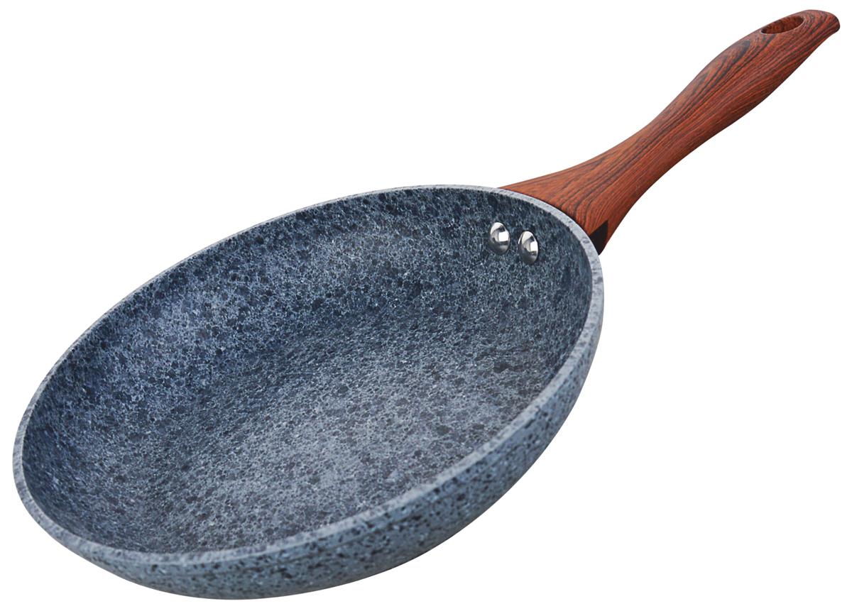 Сковорода Vitesse Granite, с гранитным покрытием. Диаметр 26 смVS-4013Сковорода из высококачественного кованого алюминия 26 см (Granite)внутреннее 3-х слойное гранитное антипригарное покрытиевнешнее гранитное термостойкое покрытиеручки бакелитовые прорезиненные не нагревающиеся