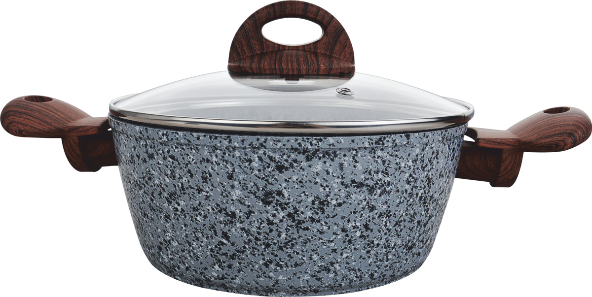 Кастрюля Vitesse Granite, с крышкой, цвет: серый, 2,2 лVS-4018Кастрюля с крышкой из высококачественного кованого алюминия 20 см (2,2 л) (Granite)Внутреннее трёхслойное гранитное антипригарноепокрытие.Внешнее гранитное термостойкое покрытие. Ручки бакелитовые прорезиненные не нагревающиеся.