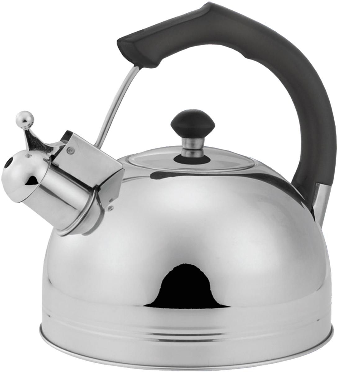 Чайник Bohmann, со свистком, 3 л. 9980-3BHBK9980-3BHBKЧайник Bohmann выполнен из высококачественной нержавеющей стали, чтоделает его весьма гигиеничным и устойчивым к износу при длительномиспользовании. Носик чайника оснащен свистком, что позволит вамконтролировать процесс подогрева или кипячения воды. Фиксированная ручкаизготовлена из бакелита. Зеркальная полировка придает чайнику изысканныйвнешний вид. Эстетичный и функциональный чайник будет оригинальносмотреться в любом интерьере.Подходит для использования на всехтипах плит. Можно мыть в посудомоечной машине. Высота чайника (сучетом ручки и крышки): 23 см.Диаметр чайника (по верхнему краю): 8,5см.Диаметр основания: 20 см.