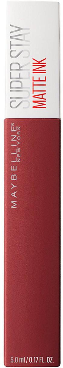 Maybelline New York Суперстойкая жидкая матовая помада для губ Super Stay Matte Ink, оттенок 50, Путешественник, 5 млB3092200Удобный аппликатор обеспечивает самое точное и простое нанесение. Насыщенные оттенки и матовый финиш – главный тренд этого сезона.