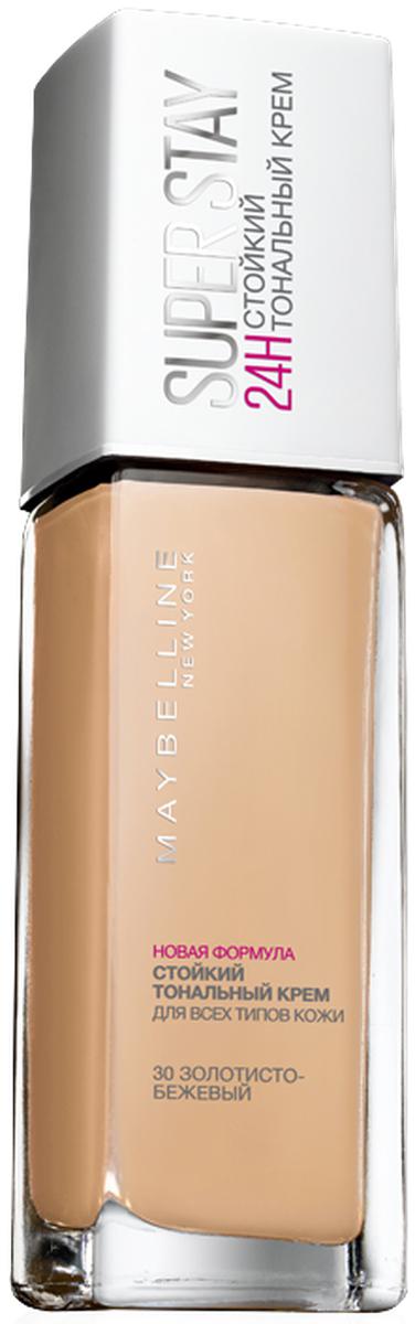Maybelline New York Суперстойкий тональный крем для лица Super Stay 24H, оттенок 30, Золотисто-бежевый, 30 млB2975600Тональный крем для лица со стойкостью 24 часа и плотным покрытием благодаря концентрированным пигментам. Благодаря технологии Микро-флекс и пигментам свежести новый тональный крем выдерживает прикосновения рук, телефонные звонки и непогоду. Суперстойкое покрытие, которое остается безупречным весь день. Данный оттенок подходит темной коже с нейтральным подтоном.