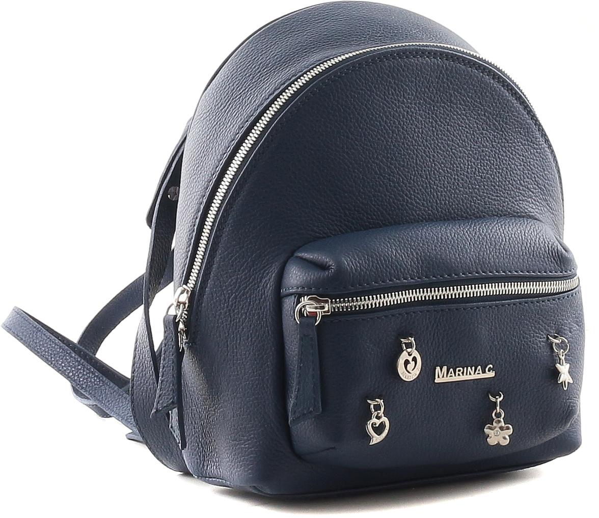 Рюкзак женский Marina Creazioni, цвет: синий. 4066 футболка с полной запечаткой для девочек printio пес и кот