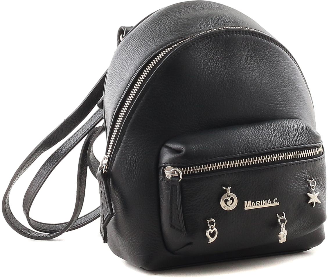 Рюкзак женский Marina Creazioni, цвет: черный. 4066 рюкзак женский marina creazioni цвет синий 4066