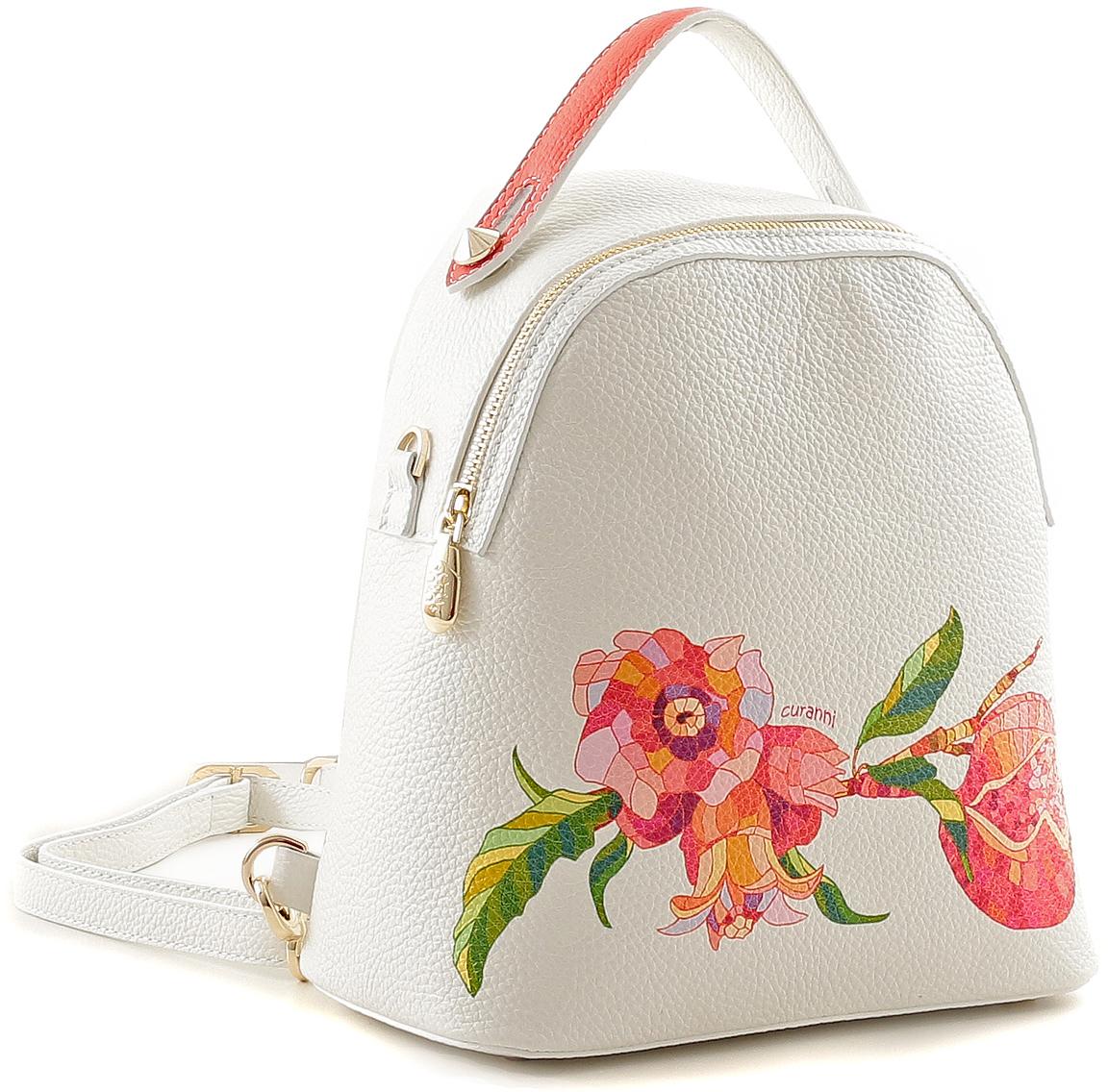 Рюкзак женский Curanni, цвет: молочный. 24782478 Cu стампа матура (рюкзак женский)Стильный рюкзак итальянского бренда Curanni от известной дизайнерской студии Sepani lab, выполнен из натуральной кожи. Станет превосходным дополнением образа на прогулке или в клубе. На лицевой стороне карман на молнии для мелочей. На спинке рюкзака есть потайной карман на молнии.