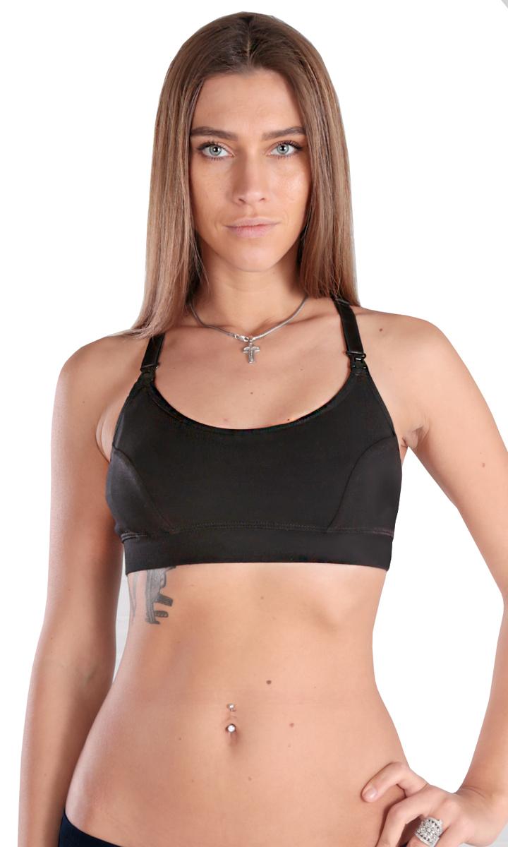 Бюстгальтер послеродовый Euromama, цвет: черный. ем6005. Размер XL (50) бюстгальтер euromama euromama mp002xw0wor6