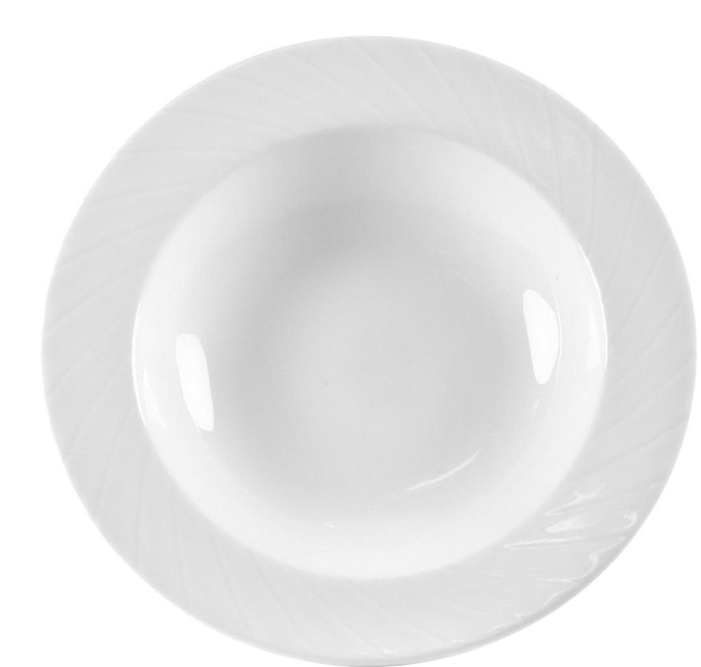 """Тарелка """"Mayfair"""" изготовлена из фарфора. Фарфор покрывается глазурью, что характеризует посуду как продукт высшего класса.  Идеально подходит для использования в микроволновой печи и посудомоечной машине.  Такая тарелка изысканно украсит сервировку как обеденного, так и праздничного стола."""