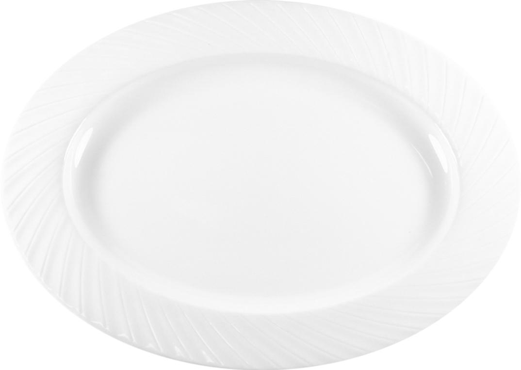 Блюдо Nuova Cer Mayfair, овальное, цвет: белый, 28,5 х 22,5 смB1659Блюдо Nuova Cer- новый уникальный продукт на рынке фарфора, производится из материала, в состав которого входит алюминиум (глинозем) в виде порошка, что придает фарфору уникальные свойства: белоснежный цвет, как на поверхности, так и на изломе, более тонкие и изящные формы, так как добавление металла делает фарфоровую массу более пластичной, устойчивость к сколам и царапинам.Возможный перепад температур при эксплуатации до 200 градусов!Фарфор покрывается глазурью, что характеризует эту посуду как продукт высшего класса.Идеально подходит для использования в микроволновой печи и посудомоечной машине.