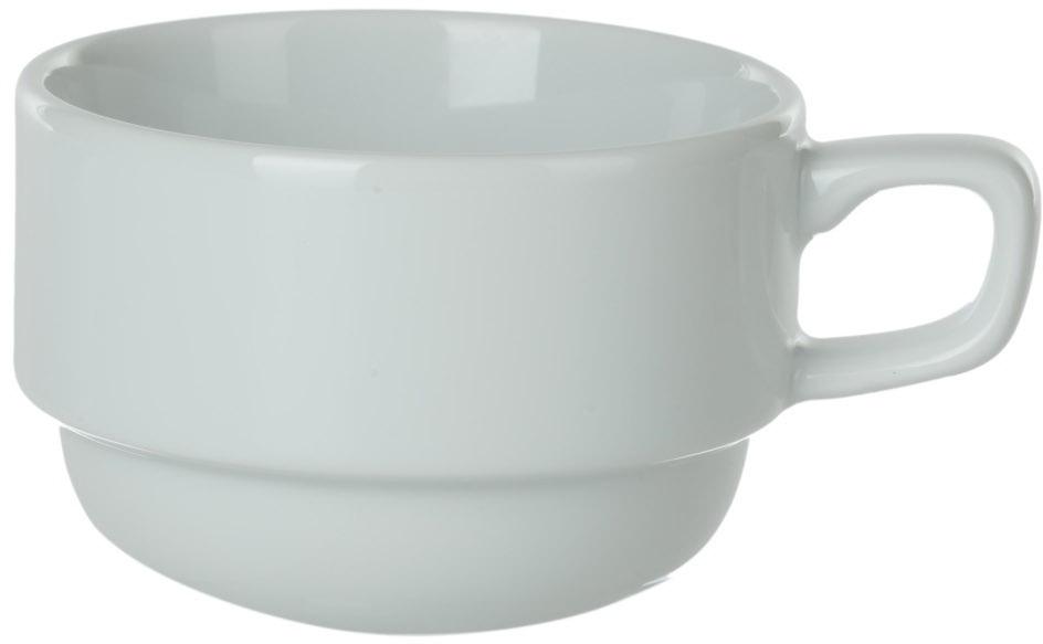 Чашка кофейная Nuova Cer, цвет: белый, 100 мл. РП-0264РП-0264Кофейная чашка Nuova Cer - новый уникальный продукт на рынке фарфора производится из материала, в состав которого входит алюминиум (глинозем) в виде порошка, что придаёт фарфору уникальные свойства: белоснежный цвет, как на поверхности, так и на изломе, более тонкие и изящные формы, так как добавление металла делает фарфоровую массу более пластичной, устойчивость к сколам и царапинам. Возможный перепад температур при эксплуатации до 200 градусов! Фарфор покрывается глазурью, что характеризует эту посуду как продукт высшего класса.Идеально подходит для использования в микроволновой печи и посудомоечной машине.