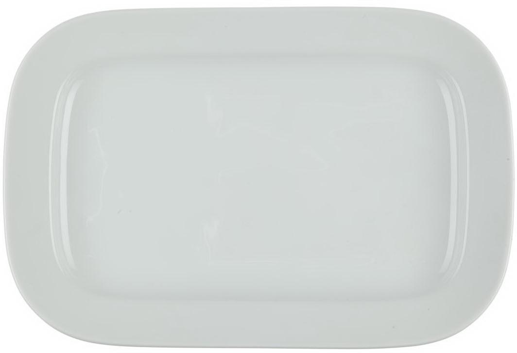 Блюдо Nuova Cer, прямоугольное, цвет: белый, 32 смРП-0949Блюдо Nuova Cer- новый уникальный продукт на рынке фарфора, производится из материала, в состав которого входит алюминиум (глинозем) в виде порошка, что придает фарфору уникальные свойства: белоснежный цвет, как на поверхности, так и на изломе, более тонкие и изящные формы, так как добавление металла делает фарфоровую массу более пластичной, устойчивость к сколам и царапинам.Возможный перепад температур при эксплуатации до 200 градусов!Фарфор покрывается глазурью, что характеризует эту посуду как продукт высшего класса.Идеально подходит для использования в микроволновой печи и посудомоечной машине.