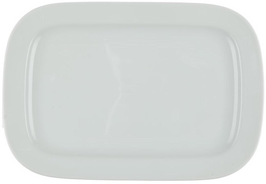 Блюдо Nuova Cer, прямоугольное, цвет: белый, 26 см