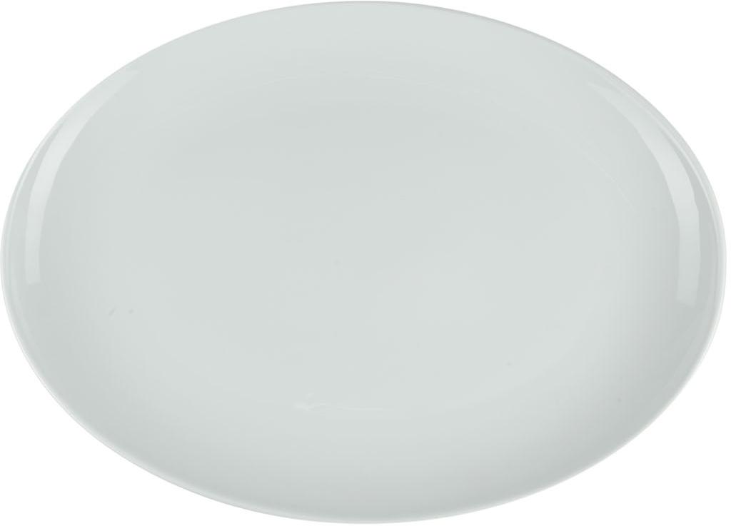 Блюдо Nuova Cer, овальное, 30 смРП-4002ROYAL новый уникальный продукт на рынке фарфора производится из материала, в состав которого входит алюминиум (глинозем) в виде порошка, что придаёт фарфору уникальные свойства: белоснежный цвет, как на поверхности, так и на изломе, более тонкие и изящные формы, так как добавление металла делает фарфоровую массу более пластичной, устойчивость к сколам и царапинам. Возможный перепад температур при эксплуатации до 200 градусов! Фарфор покрывается глазурью, что характеризует эту посуду как продукт высшего класса. Идеально подходит для использования в микроволновой печи и посудомоечной машине