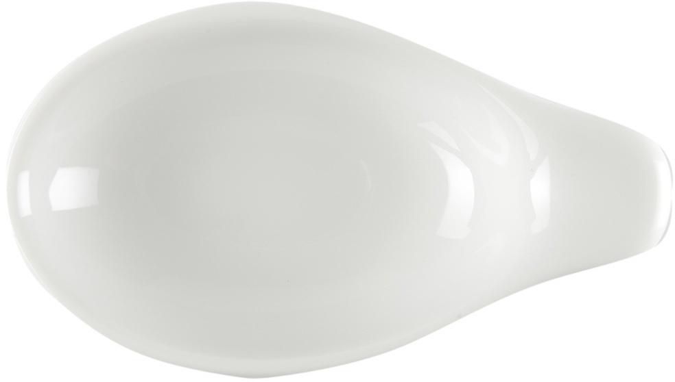 Подставка под ложку Nuova Cer, 5 смРП-4069ROYAL новый уникальный продукт на рынке фарфора производится из материала, в состав которого входит алюминиум (глинозем) в виде порошка, что придаёт фарфору уникальные свойства: белоснежный цвет, как на поверхности, так и на изломе, более тонкие и изящные формы, так как добавление металла делает фарфоровую массу более пластичной, устойчивость к сколам и царапинам. Возможный перепад температур при эксплуатации до 200 градусов!Фарфор покрывается глазурью, что характеризует эту посуду как продукт высшего класса. Идеально подходит для использования в микроволновой печи и посудомоечной машине.