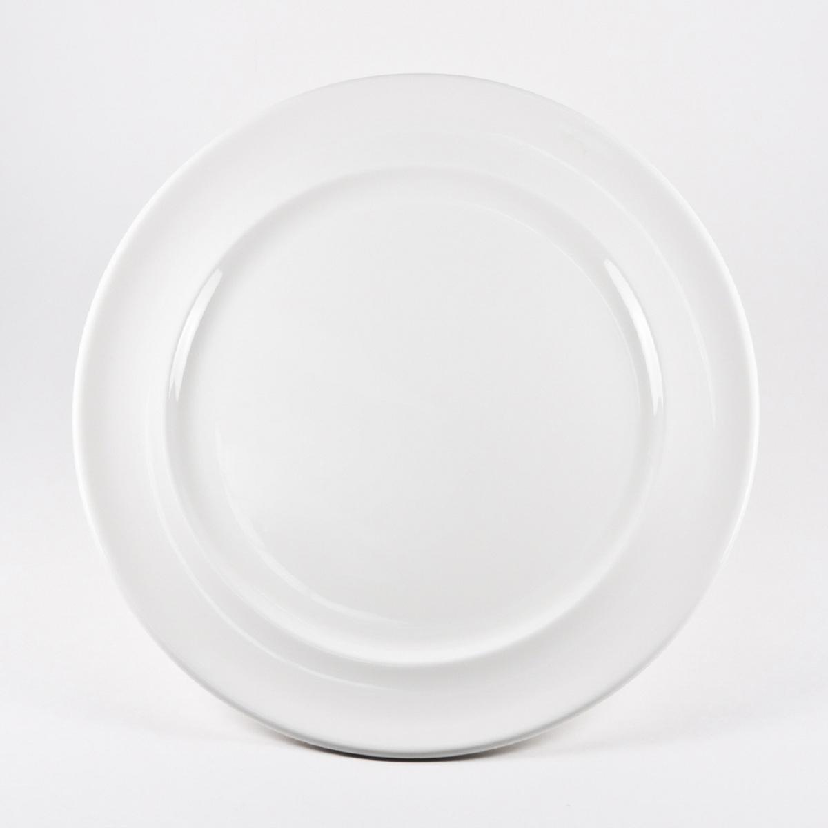 Тарелка Royal Porcelain Максадьюра, диаметр 31,5 смРП-8508ROYAL новый уникальный продукт на рынке фарфора производится из материала, в состав которого входит алюминиум (глинозем) в виде порошка, что придаёт фарфору уникальные свойства: белоснежный цвет, как на поверхности, так и на изломе, более тонкие и изящные формы, так как добавление металла делает фарфоровую массу более пластичной, устойчивость к сколам и царапинам. Возможный перепад температур при эксплуатации до 200 градусов! Фарфор покрывается глазурью, что характеризует эту посуду как продукт высшего класса. Идеально подходит для использования в микроволновой печи и посудомоечной машине