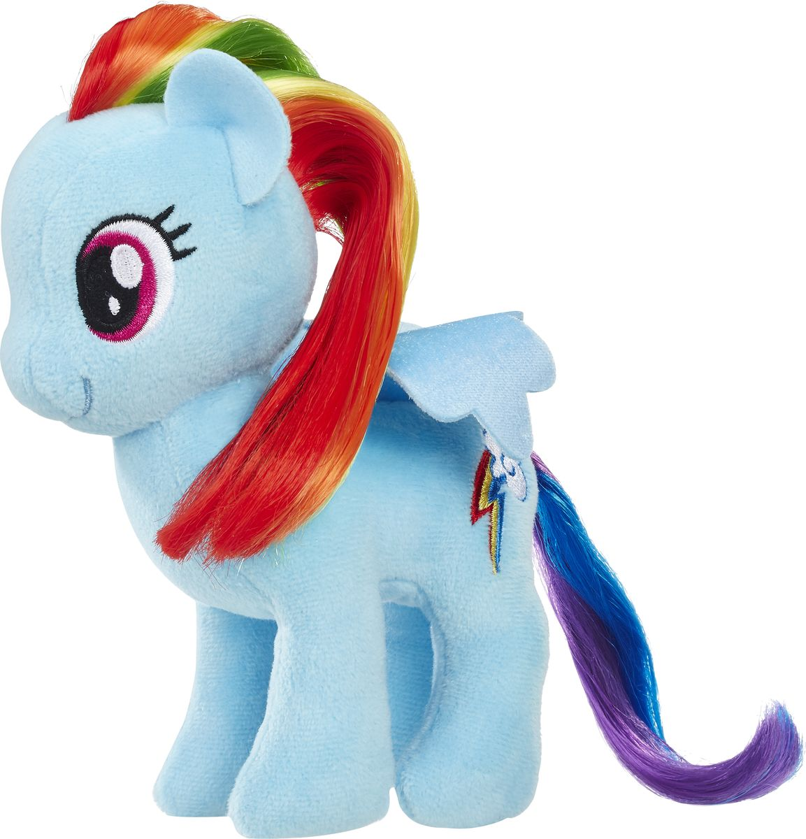 My Little Pony Мягкая игрушка Пони с волосами Rainbow Dash 19 см майка классическая printio my little pony rainbow dash