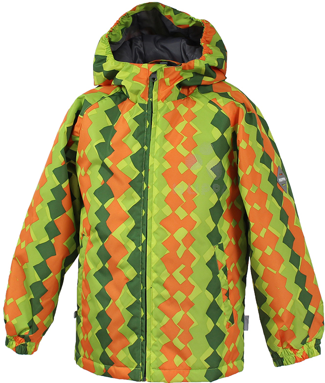 Куртка детская Huppa Classy 1, цвет: лайм. 17710010-947. Размер 11617710010-947Детская куртка Huppa изготовлена из водонепроницаемого полиэстера. Куртка с капюшоном застегивается на пластиковую застежку-молнию с защитой подбородка. Высокотехнологичный лёгкий синтетический утеплитель нового поколения сохраняет объём и высокую теплоизоляцию изделия. Края капюшона и рукавов собраны на внутренние резинки. У модели имеются два врезных кармана. Изделие дополнено светоотражающими элементами.Выдерживает температуру до -5°C.