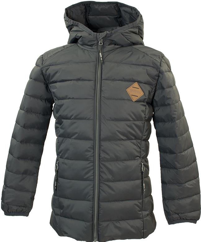 Куртка для мальчика Huppa Stevo, цвет: серый. 17990055-00048. Размер 12217990055-00048Стеганая куртка для мальчиков Stevo. Комфортная модель отлично защищает от ветра и дождя. Подкладка из тафты. Утеплитель из синтетического пуха подходит для прохладной погоды, от -5 до +5°С. Капюшон укреплен резинкой и отделан тканью. Карманы со скрытыми молниями. Присутствуют светоотражательные детали.