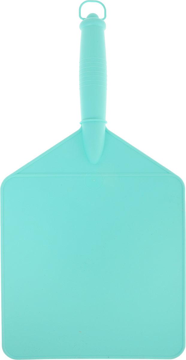 Доска-опахало разделочная для шашлыка Libra Plast, цвет: бирюзовыйLP0020_бирюзовыйИзбежать неравномерной прожарки мяса при приготовлении шашлыка и обеспечить себе вкусный отдых, вам поможет опахало для мангала и разделочная доска - 2 в 1. Изделие выполнено из пластика.