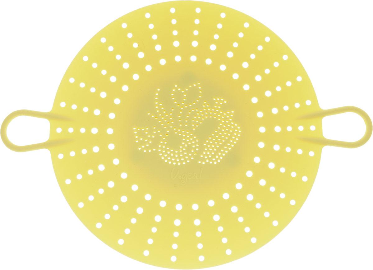 Пароварка Menu Идея, цвет: желтыйIDE-02_желтыйПароварка Menu Идея незаменимый помощник в приготовлении здоровой едыи диетическихблюд. Еда, приготовленная в пароварке, полезна, так как в ней сохраняетсямаксимальноеколичество витаминов и минеральных веществ.Изделие выполнено изсиликона, которыйприятен на ощупь и легко моется. Не впитывает запахи, не выделяет вредныхвеществ, невступает в химическую реакцию с продуктами, не царапает антипригарноепокрытие, недеформируется при хранении в свернутом виде.Пароварка имеет долгийсрок службы,сохраняя свой первоначальный вид.Длина с учетом ручек: 29,7 см. Высота: 3 см.Инструкция по использованию указана на упаковке.