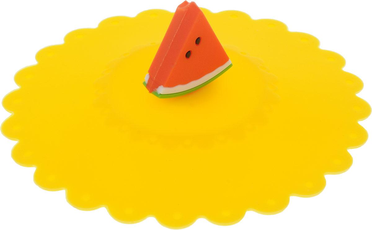 Крышка Доляна Арбуз, цвет: желтый, 11 см1210611_желтыйКрышка Доляна Арбуз станет незаменимым помощником любойсовременной хозяйки!Она выполнена из безопасного пищевого силикона, устойчивого ктемпературам от -40 до +250 градусов. Изделие не впитывает посторонниезапахи, удобно в транспортировке и хранении.Яркие света и необычная форма ручки привлекут внимание любого посетителявашей кухни, а вам поможет не потерять крышку среди остальной посуды. Диаметр крышки: 11 см.