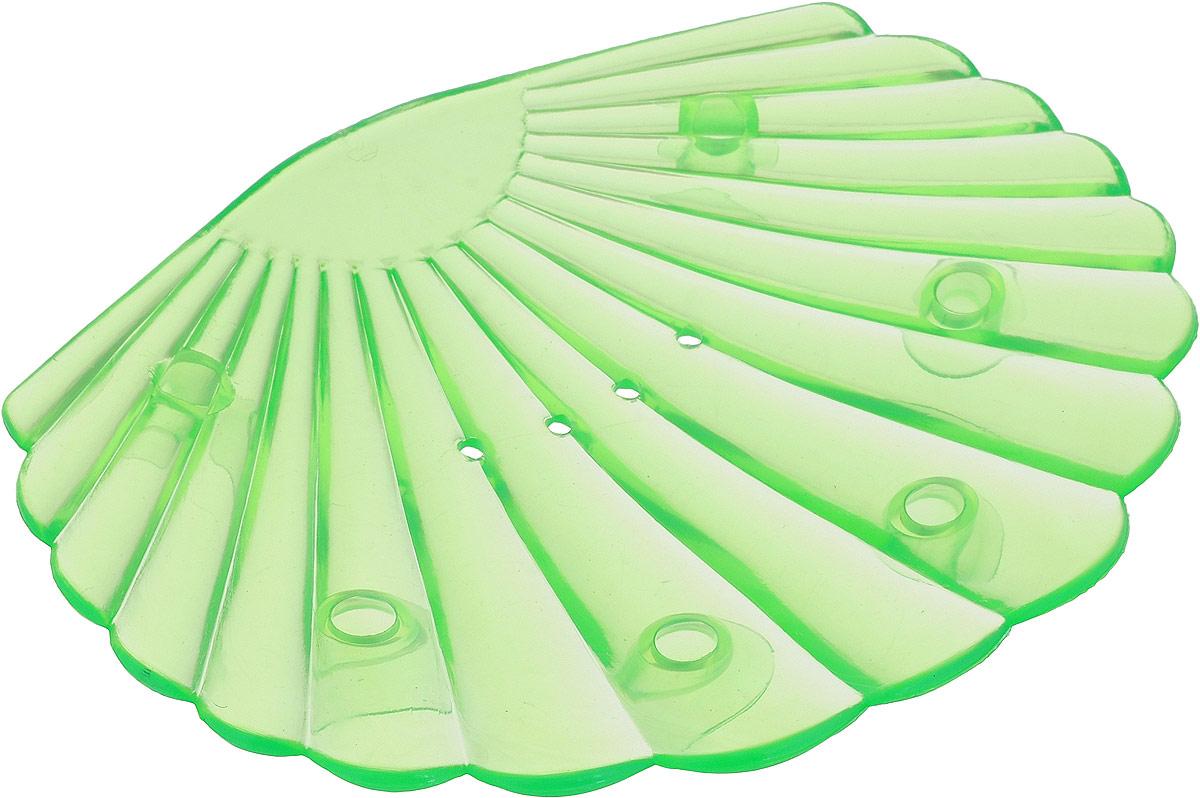 Мыльница Libra Plast Ракушка, цвет: светло-зеленый. LP0048LP0048_светло-зеленыйМыльница Libra Plast Ракушка - незаменимый аксессуар для ванной комнаты.Выполненная из мягкого полимерного материала (ПВХ) мыльница удобно размещается на горизонтальных поверхностях раковины или имеющейся столешнице, не скользит и не царапает поверхность. Особая форма мыльниц позволяет избежать соскальзывания мыла, а дырочки на дне мыльницы пропускают воду, не позволяя мылу размокнуть. Мыльница не имеет острых углов, безопасна и удобна в использовании. Оптимальный размер позволяет разместить самые распространенные формы мыла.Размеры: 13 х 10 х 1,5 см.