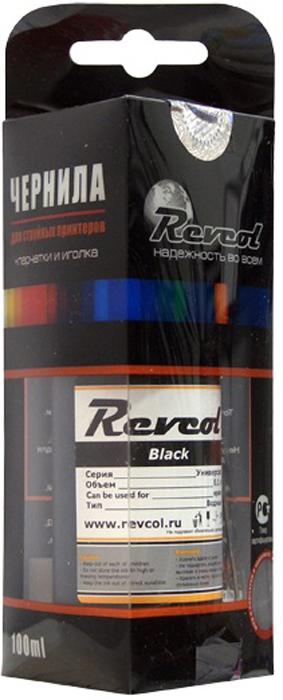 Revcol R-E-0,1-BD Black, чернила для принтеров Epson, 100 мл комплект ультрахромных чернил inksystem для epson 9910 1л 5 цветов