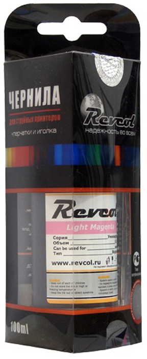Revcol R-E-0,1-LMD L.Magenta, чернила для принтеров Epson, 100 мл комплект ультрахромных чернил inksystem для epson 9910 1л 5 цветов