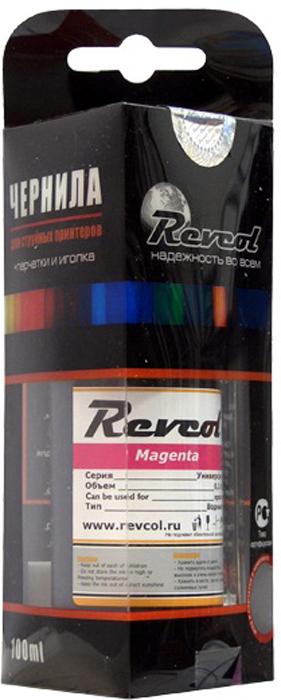 Revcol R-E-0,1-MD Magenta, чернила для принтеров Epson, 100 мл комплект ультрахромных чернил inksystem для epson 9500 1л 6 цветов